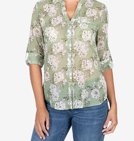 Kut from the Kloth Jasmine Stripe Blouse