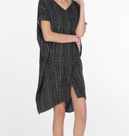 Niche Sage Dress Graph Paper Print