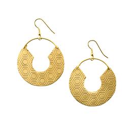 Matr Boomie Jaladhi Earrings Gold Honeycomb