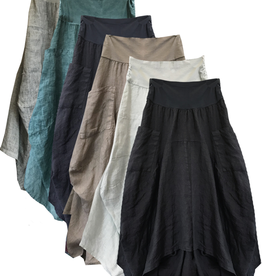 Porto Long 2 Pkt Linen/Cotton Skirt