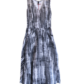 Porto Batik Print Linen/Cotton Dress