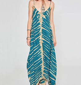 Rubyzaar Maxi V Dress Shibori