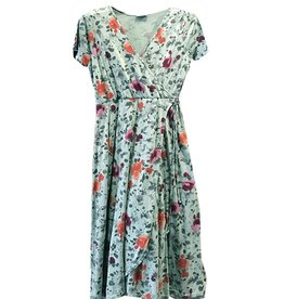Plume & Thread Julia Floral Wrap Dress