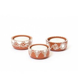 Matr Boomie Earthenware Tealight Holder Set/3
