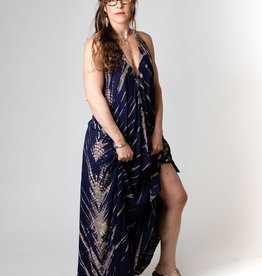 Rubyzaar Maxi Halter Dress Shibori