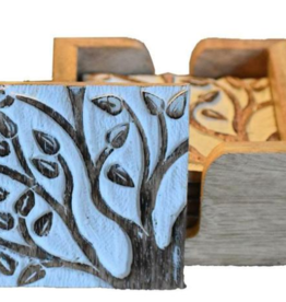 Mira Set of 6 Wooden Coasters in Case