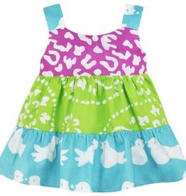 Global Mamas Gypsy Two Bird Baby Dress Organic Cotton