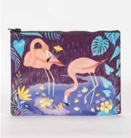 Blue Q Flamingo Zipper Pouch
