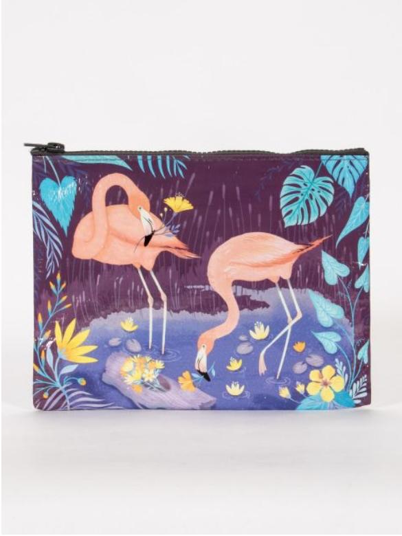 Blue Q Flamingo Zipper Pouch