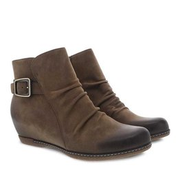 Dansko Lia Hidden Wedge Bootie Burnished Nubuck