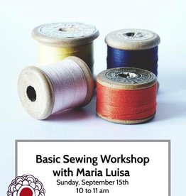 Workshop Intro to Basic Sewing Skills Sept 15