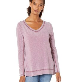 Dylan Bowery Burnout Asymmetrical V-Neck Top