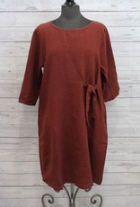 Cut Loose Natural Linen Tie Tunic Dress
