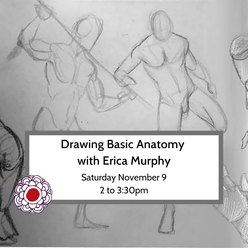 Workshop Drawing Basic Anatomy with Erica Murphy Nov 9