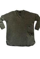 Qneel Q-Neel V Neck L/S Sweater Top