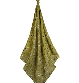 Milkbarn Swaddle Blanket, Green Dog, O/S