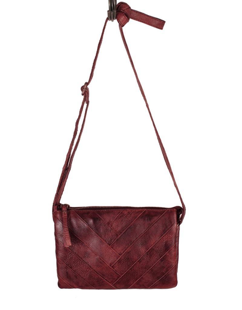 Latico Leathers Sunny Small Leather Herringbone Stitch Crossbody Bag