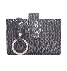 Latico Leathers Noelle Wallet - Lizard Black