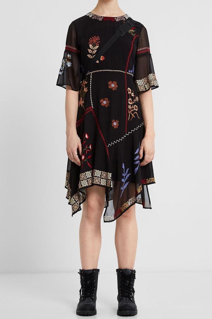 Desigual Boho Asymmetric Dress