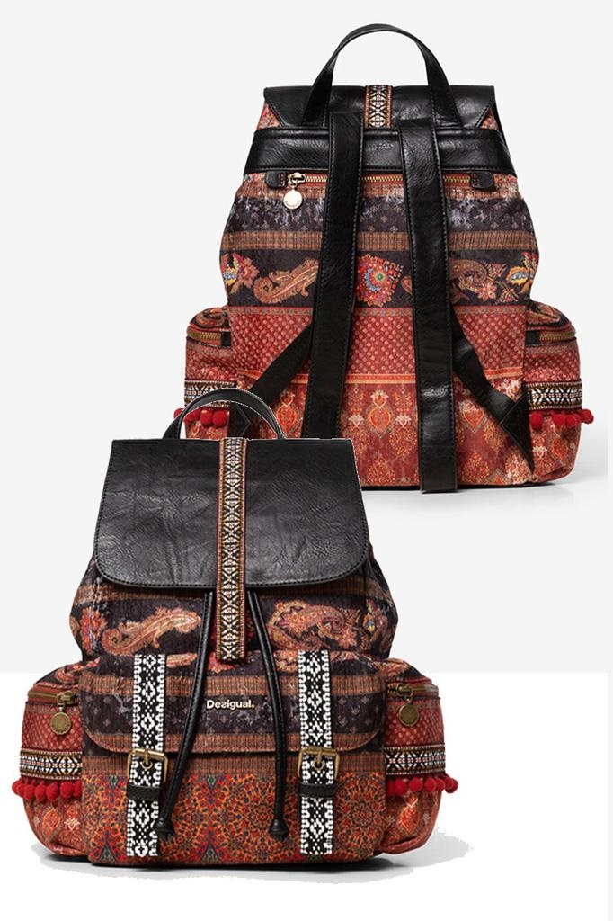 Desigual Ethnic Print Backpack
