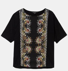 Desigual Floral Band T-Shirt Designed by M. Christian Lacroix
