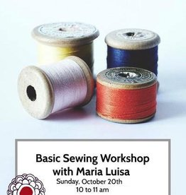 Workshop Intro to Basic Sewing Skills Oct 20