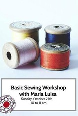 Workshop Intro to Basic Sewing Skills Oct 27