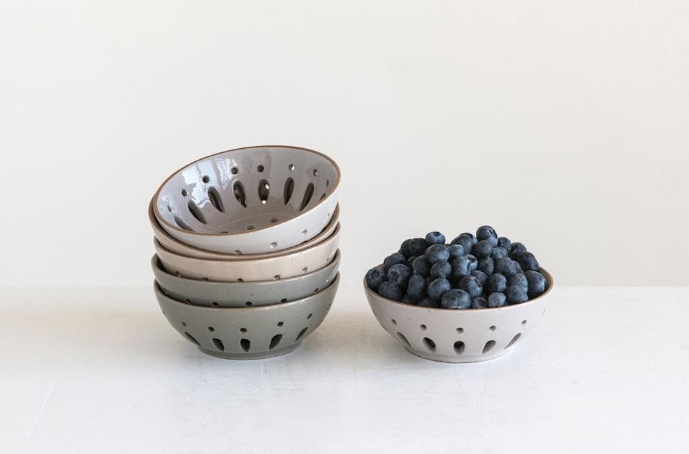 Creative Co-op Stoneware Berry Bowl