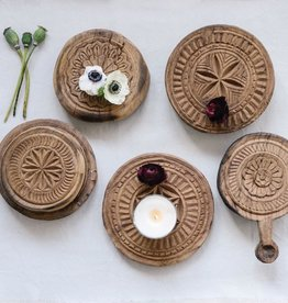 Creative Co-op Hand-Carved Found Wood Indian Bread Board