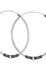 Tiger Mountain Silver hoop earrings with beads