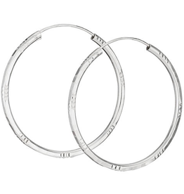 Tiger Mountain Etched Hoop Earrings