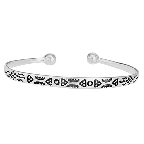 Tiger Mountain Narrow Tribal Bracelet