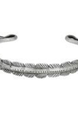 Tiger Mountain Silver Feather Cuff Bracelet