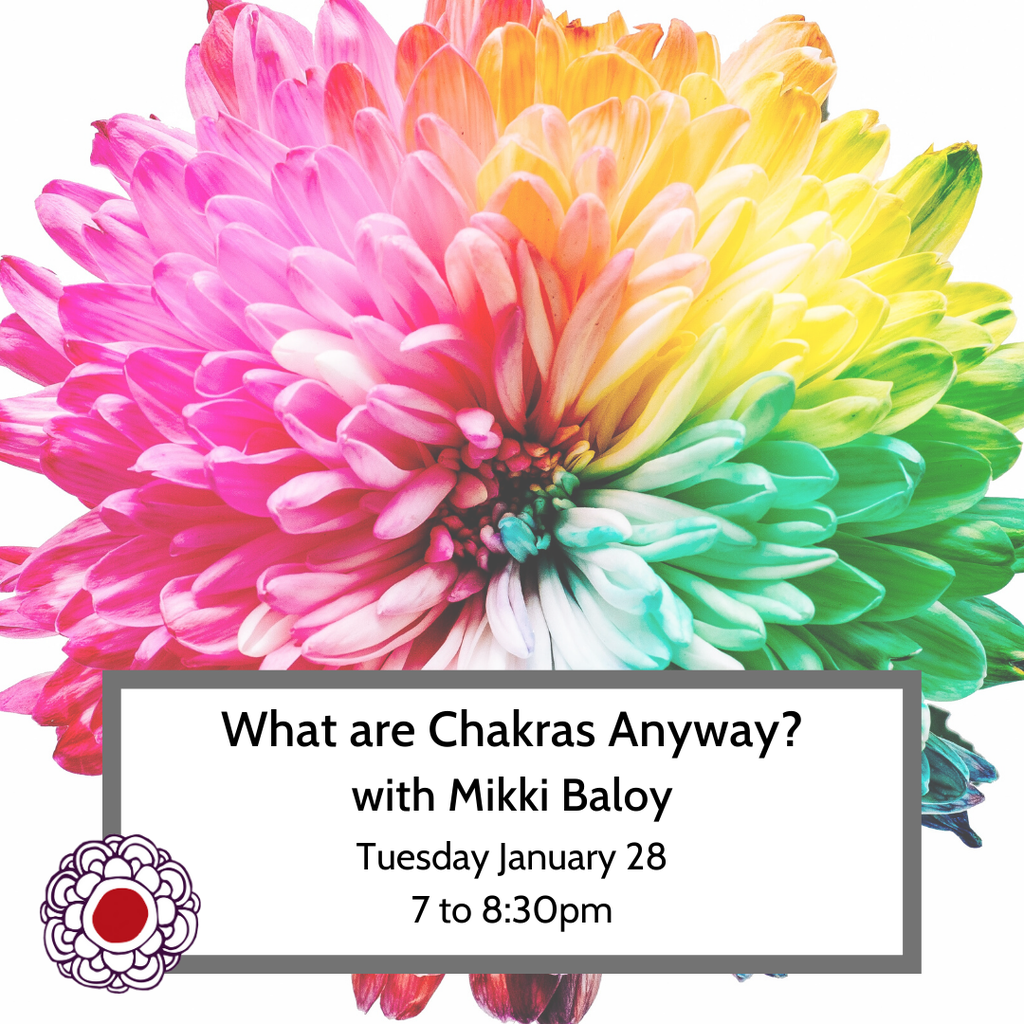Maria Luisa What Are Chakras Anyway? w Mikki Baloy Jan 28 7pm