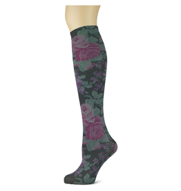 Sox Trot Enchantment on Smoke Adult Knee Highs