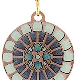 Earth Dreams Copper Flower Mandala Earrings