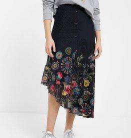 Desigual Asymmetrical Tulle Skirt