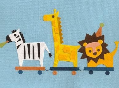 Good Paper Safari Train Card
