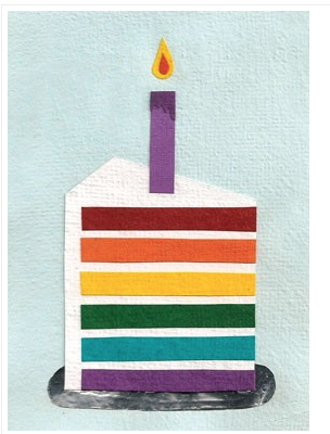 Good Paper Rainbow Cake Card