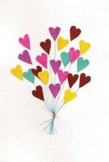 Good Paper Heart Balloons Card