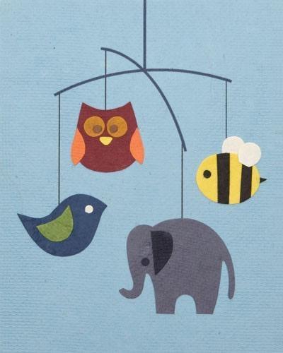 Good Paper Animal Mobile Card