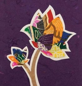 Good Paper Batik Flower Card