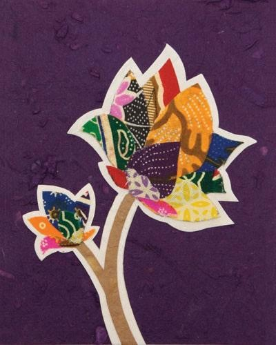 Good Paper Batik Flower Card