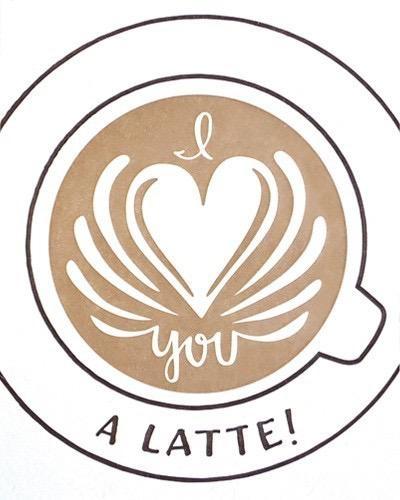 Good Paper Latte Love Card