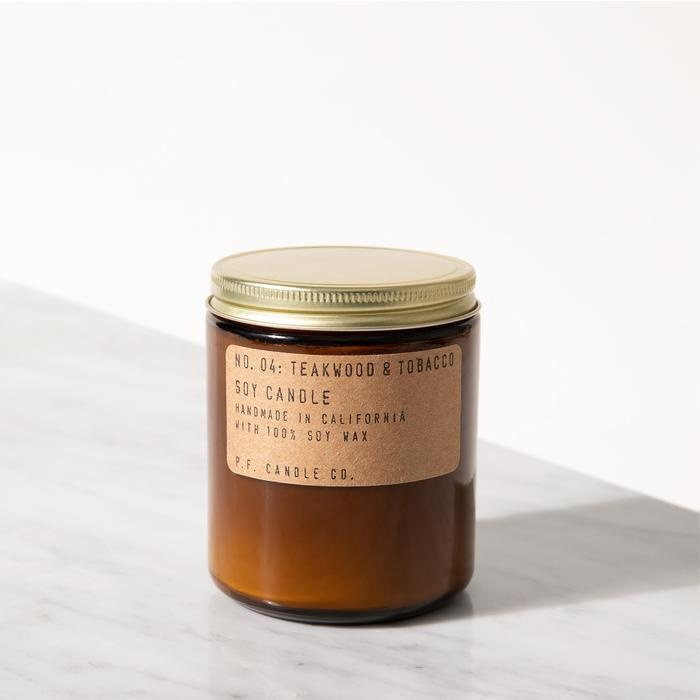 P.F. Candle Co. Teakwood & Tobacco Soy Candle - 7.2 oz