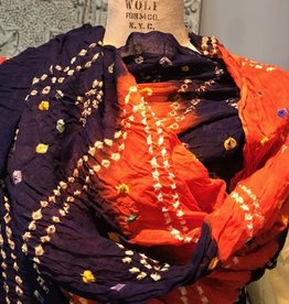 Maria Luisa Fine Weight Cotton Batik Shawl