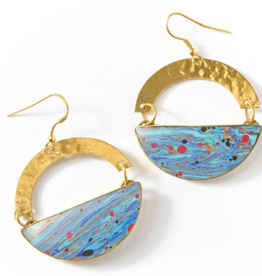 Matr Boomie Ria Earrings-Multi Swirl
