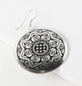 Matr Boomie Sun Medallion Earrings - Silver
