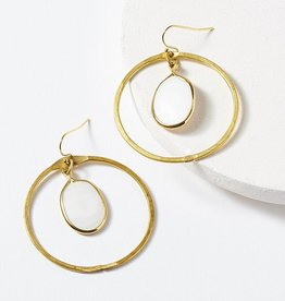 Matr Boomie Dhavala Earrings - Pearl Hoop
