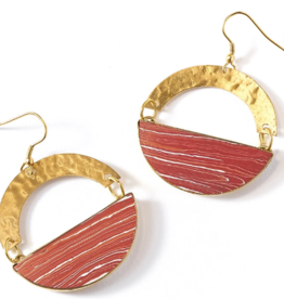 Matr Boomie Ria Earrings-Desert Clay Swirl